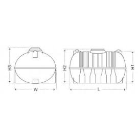 Alzamil Horizontal Tank Capacity 3000 Ltr